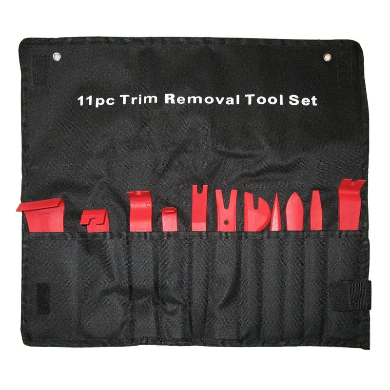 11pcs Trim Removal Tool Set Trim Door Panel Window Molding Upholstery Fastener Clip Removal Tools Combo for Automobiles (Red)