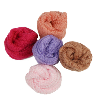 60*40cm Knit Newborn Mohair Wrap Baby Boy Girl Photography Blanket Knitted Infant Costume Props Photo Shoot
