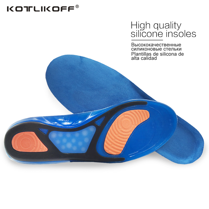 KOTLIKOFF Sport Insoles Shock Absorption Pads Running Sport Shoes Inserts Breathable Insoles Foot Health Care For Men And Women kotlikoff shoes pad foot care for flat foot arch support orthotic running sport insoles shock absorption pads shoe inserts