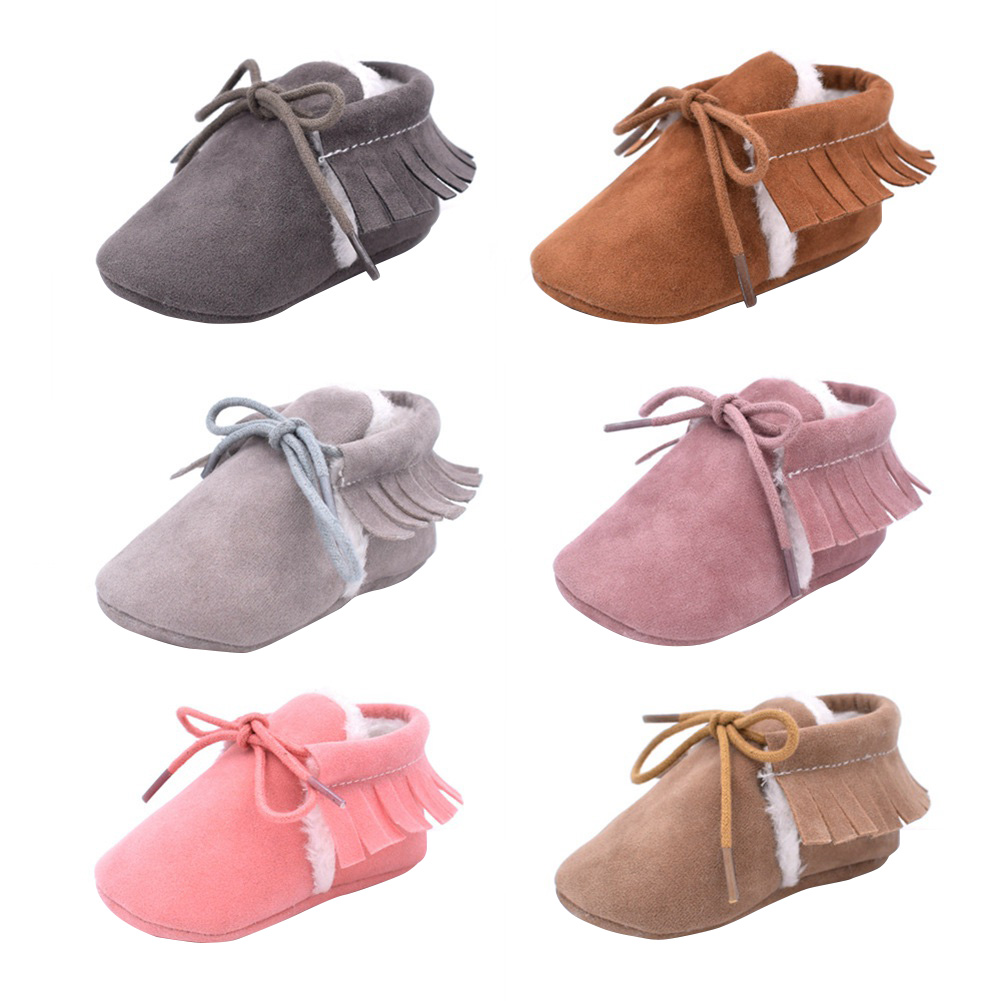 2018 Toddlers Prewalker PU Leather Boy Girl First Walkers Soft Sole Footwear Infant Kids Crib Shoes For 0-1 Year Baby @