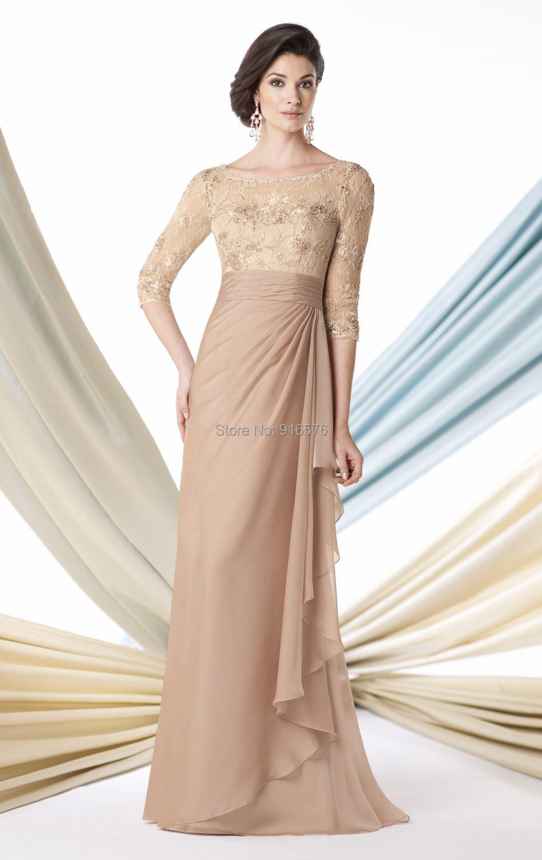 Elegant wedding pant suits - Chiffon Pants Suit A Line Wedding Dresses Scoop Neckline Women Gown With 3 4 Sleeve