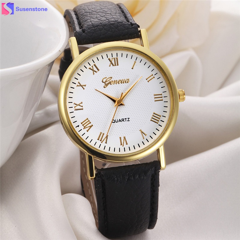 Fashion Watch Casual Women Men Unisex Quartz Watches Leather Band Analog Quartz Wrist Watch relogio feminino Hour Clock saati new fashion unisex women wristwatch quartz watch sports casual silicone reloj gifts relogio feminino clock digital watch orange