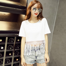 LG T-Shirts 2017 Summer Women T Shirt Cotton Solid Casual Straight Short Sleeve O-Neck Tees Tops