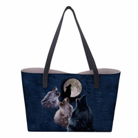 Customized DIY Customizer Women Shoulder bag Snow Wolf series Printing Bag Trapeze bag handbag Casual Tote Handbag 38*33cm