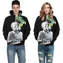 Mr.1991INC Einstein Hoodies Men/Women Sweatshirts 3d Print Einstein Smoking Thin Unisex Hooded Tracksuits Tops Pullovers