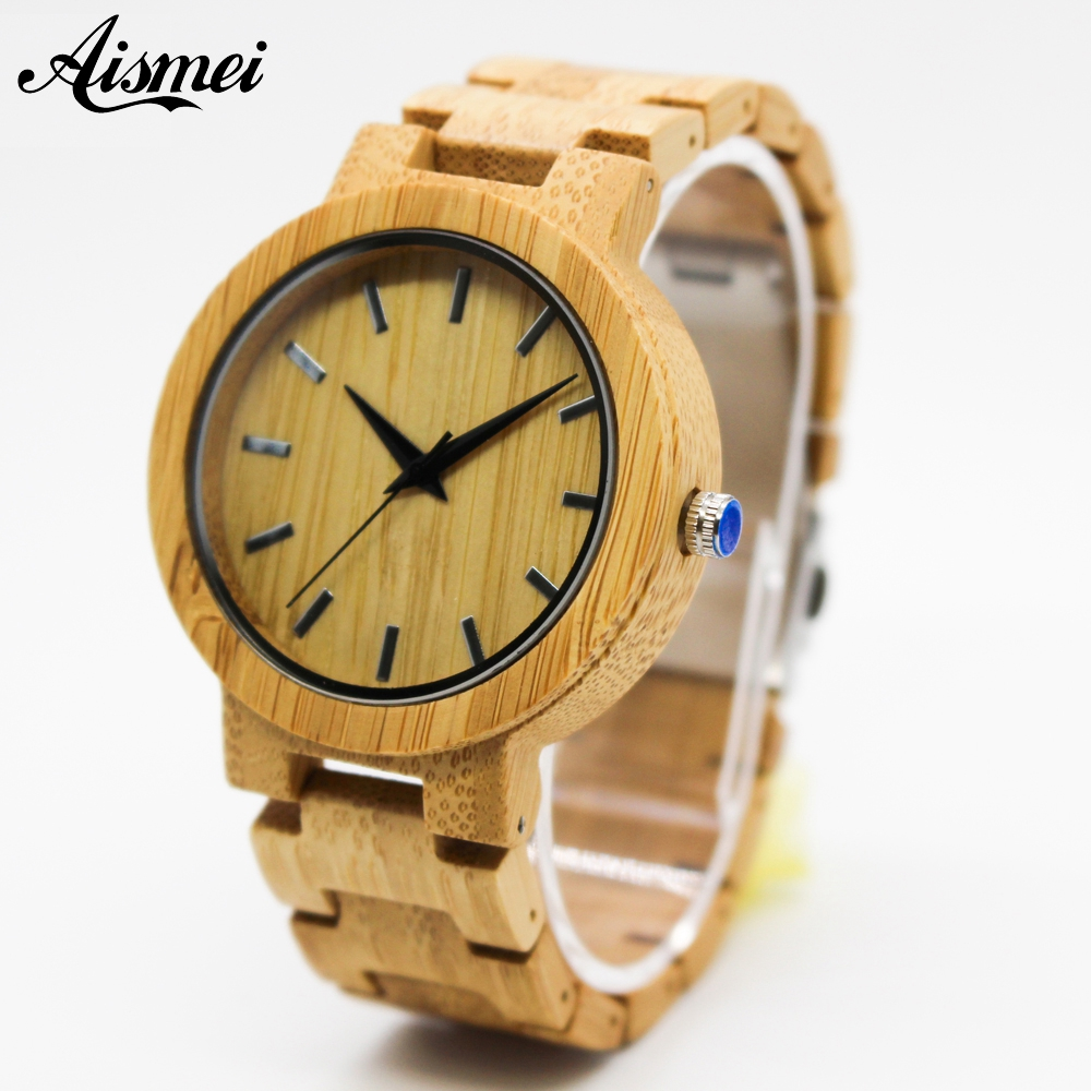 2018 Luxury Top Brand Men's Wood Watches Men and Women Quartz Clock Fashion Casual Wooden Strap Wrist Watch Male Relogio bamboo wood watches for men and women fashion casual leather strap wrist watch male relogio