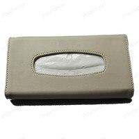 Sun Visor Leather Auto towel Bag Sunvisor Hanging Napkin Holder Case For A/udi A3 A4L A6L Q5 Q3 Q7 Car Tissue Box