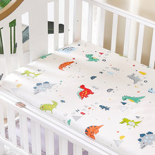 (crib Fitted Bed Sheet) Customize Baby Kids Bed Sheet Crib Mattress Cover Bedding Set Cartoon Parteen For Girls Boys(China)