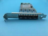 Новый сетевой карты i350 4sfp pci e x4 i350 f4 Gigabit Quad Порты и разъёмы сервер сетевой адаптер SFP