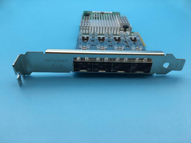 New Network Card I350 4SFP PCI E x4 I350 F4 Gigabit Quad Port Server Network Adapter SFP
