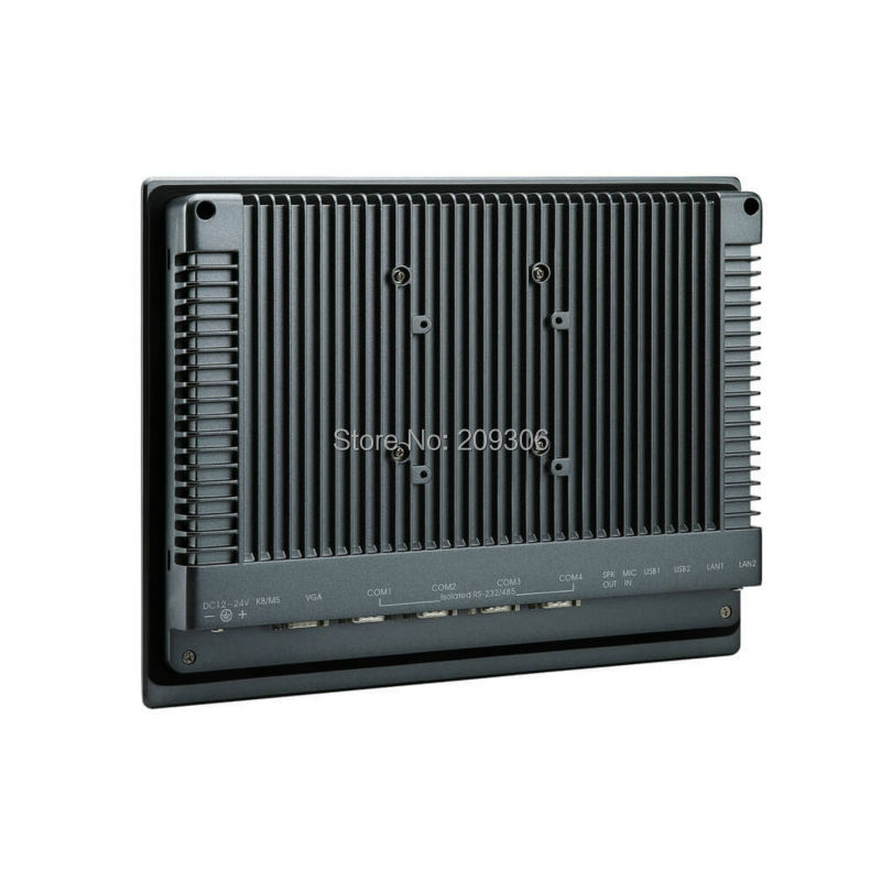 """LILLIPUT PC-1202 12"""" Industrial Panel Computer i5 5-wire resistive touch screen Win 7 8 10 Linux system IPC Aluminum Embedded PC"""