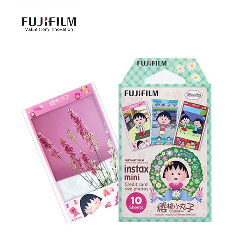 Galleria fotografica Fujifilm Instax Mini 9 8 7s 25 50s 90 Film Sakura Momoko Fuji Camera Photo 10 Sheets Paper CAM Film Cartoon Instant Mini Camera