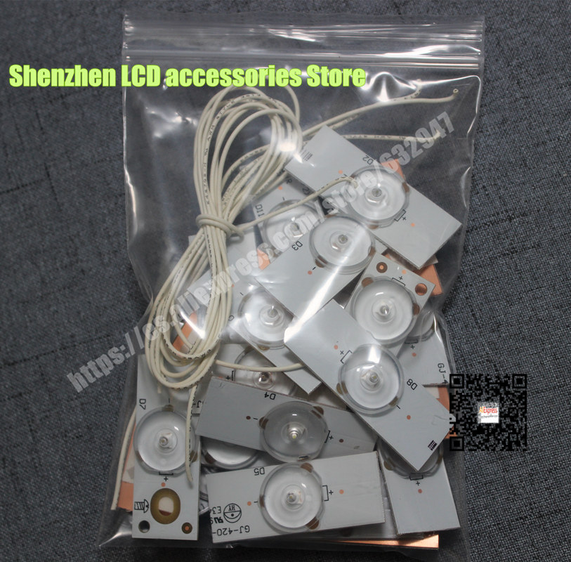 35piece/lot 6V Concave Lens for LED Backlight Strip Repair TV <font><b>CL</b></font>-<font><b>40</b></font>-<font><b>D307</b></font>-<font><b>V3</b></font> UBE12F01YT00S42S01231 UCF12F01YT00S3YF78969 image
