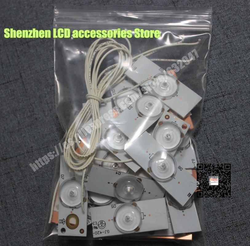 6V Concave Lens For LED Backlight Strip Repair TV  CL-40-D307-V3 UBE12F01YT00S42S01231 UCF12F01YT00S3YF78969