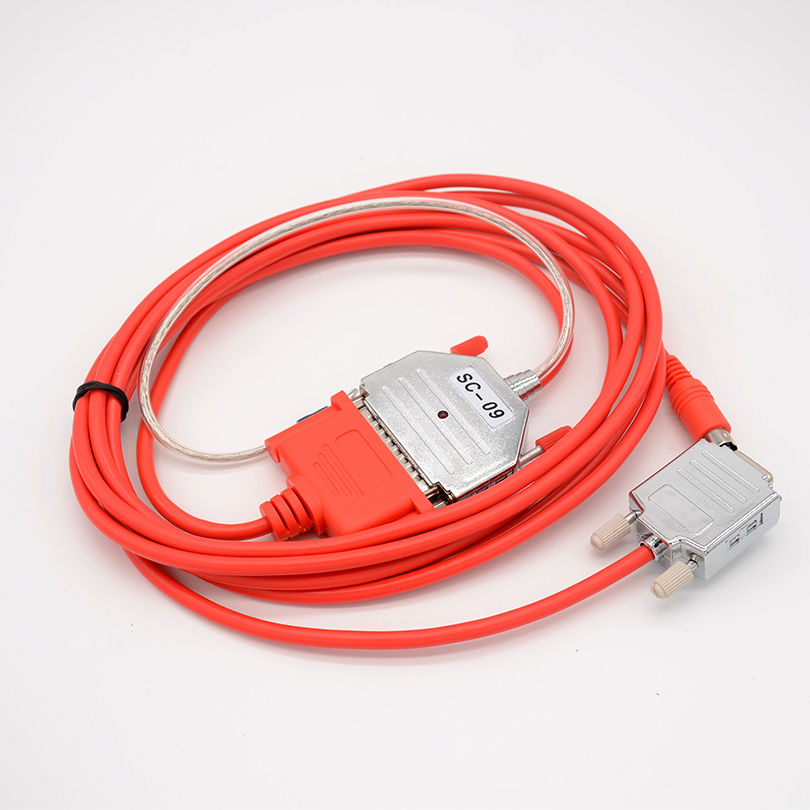 RS232/RS422 Interface Mitsubishi PLC Programming Cable Common For Mitsubishi FX And A Series PLC 3 Meters