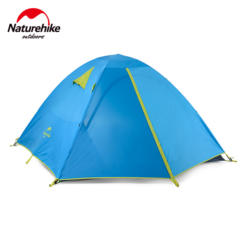 Naturehike Double Door Camping Outdoor Tourist Tent Waterproof Double Layer 2 3 Person Folding Fishing Beach Tents For Hiking naturehike factory store 2 1kg 3 4 person tent double layer waterproof fabric camping hiking fishing tents dhl free shipping
