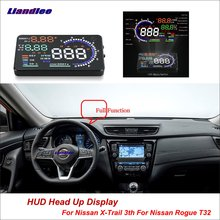 Liandlee For Nissan X-Trail T32 None Rogue 2013-2018 Safe Driving Screen Car HUD Head Up Display Projector Windshield