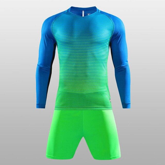 4d188a1643f82 Invierno manga larga hombres camisetas de fútbol conjunto completo entrenamiento  de fútbol adolescentes transpirable fútbol traje