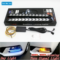 Tak Wai Lee 2Pcs LED DRL Daytime Running Light Car Styling Dynamic Streamer Flow Amber Turn