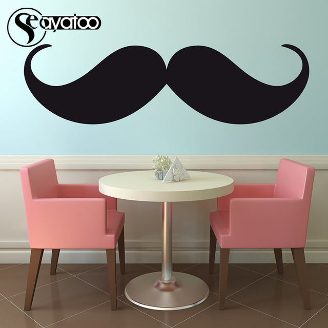 Large Beard Mustache Salon Barber Shop Vinyl Wall Decal Sticker Kids  Bedroom Home Decor