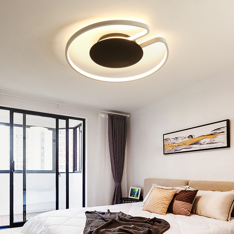 Led circle chandelier Black White Lamp Shade remote control chandeliers Living room Bedroom Kitchen led circle light fixturesLed circle chandelier Black White Lamp Shade remote control chandeliers Living room Bedroom Kitchen led circle light fixtures