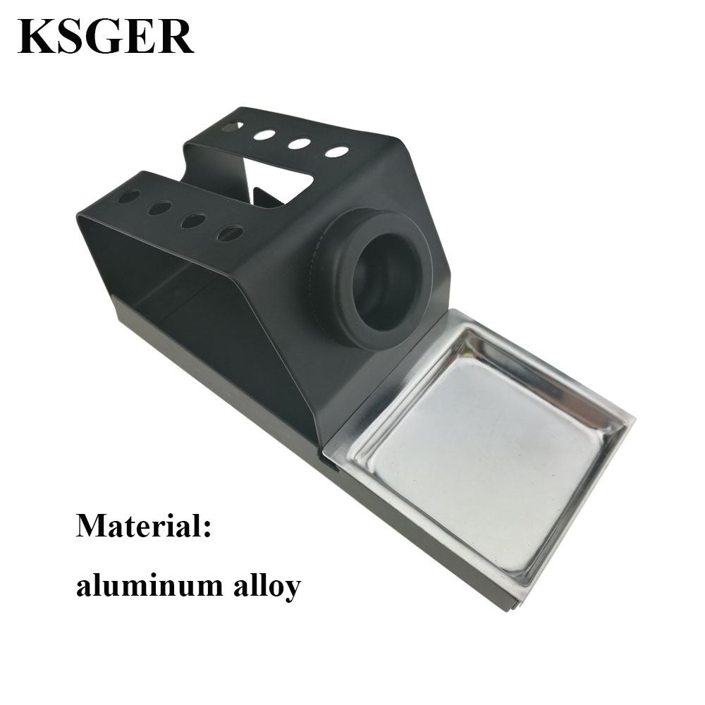 Image 5 - KSGER Soldering Iron Station Stand DIY T12 Holder Welding Iron Tips STC STM32 Metal Handle Aluminum Alloy Tools Repair Phone    - AliExpress
