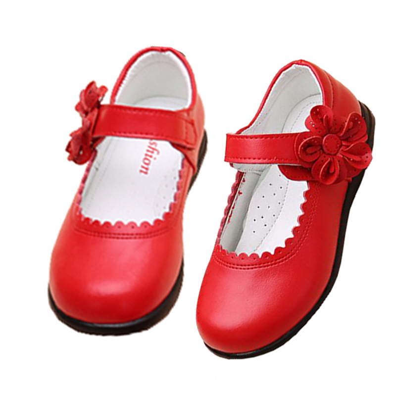 Kids Girls Flower Children Genuine Leather Shoes For Girls School Red Black Pink Christmas Party Wedding Dance Dress Shoes NewKids Girls Flower Children Genuine Leather Shoes For Girls School Red Black Pink Christmas Party Wedding Dance Dress Shoes New