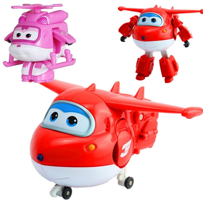 Christmas Robot Toys : Plane deformation d block action figures abs robot toys