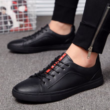 Genuine Leather Men Casual Shoes 2019 Fashion Handmade Top Quality Men's Shoes Man Flats  Zapatos Hombre Lace-Up Black Moccasins