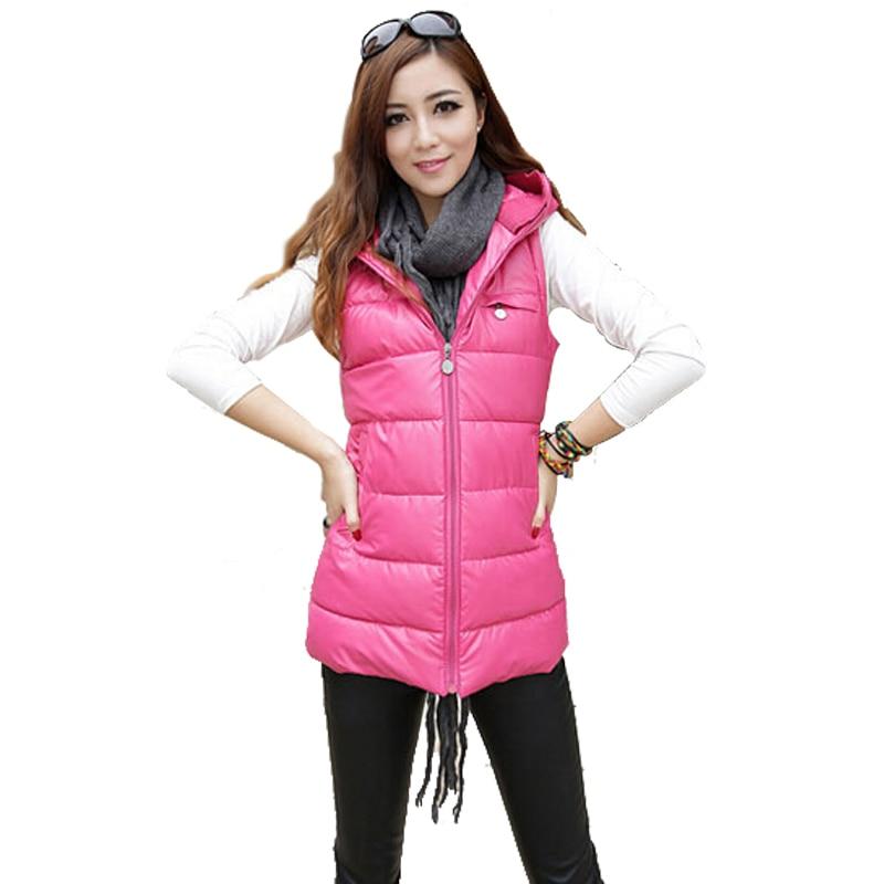 Women Vest Female Veste Femme Waistcoat Long Sleeveless Jacket Vests Thermal Cotton Warm Winter - beautifulforever store
