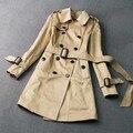 Плащ Для Женщин Двубортный Winderbreaker Женская Пальто Манто Роковой Тренч Верхняя Одежда Мода Элегантный Длинное Пальто