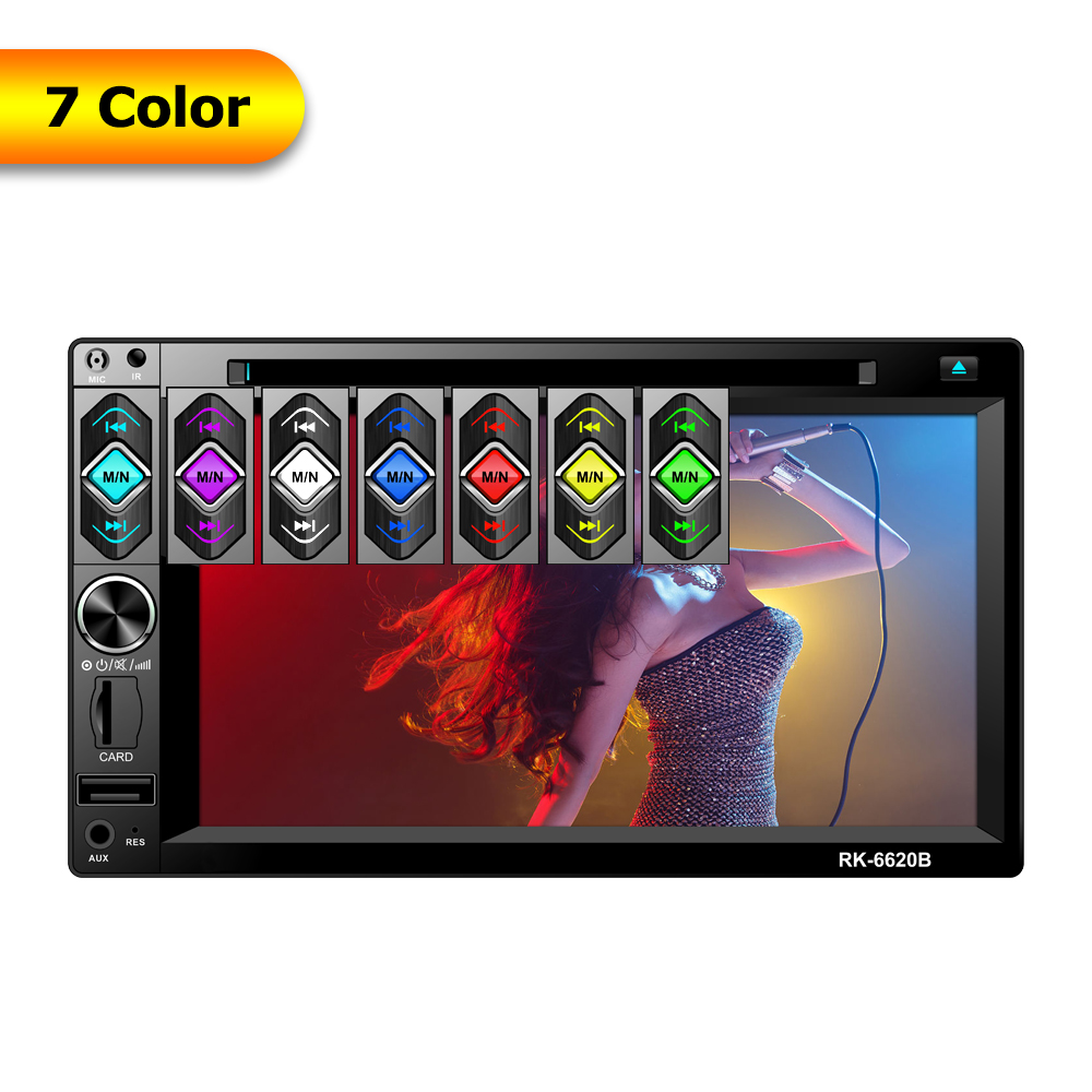 3in1 Auto 6.2″ HD Screen Display Vehicle Car Audio AM FM MP4 MP5 DVD Mirrored Interconnect Player In Dash Stereo Reversing Image