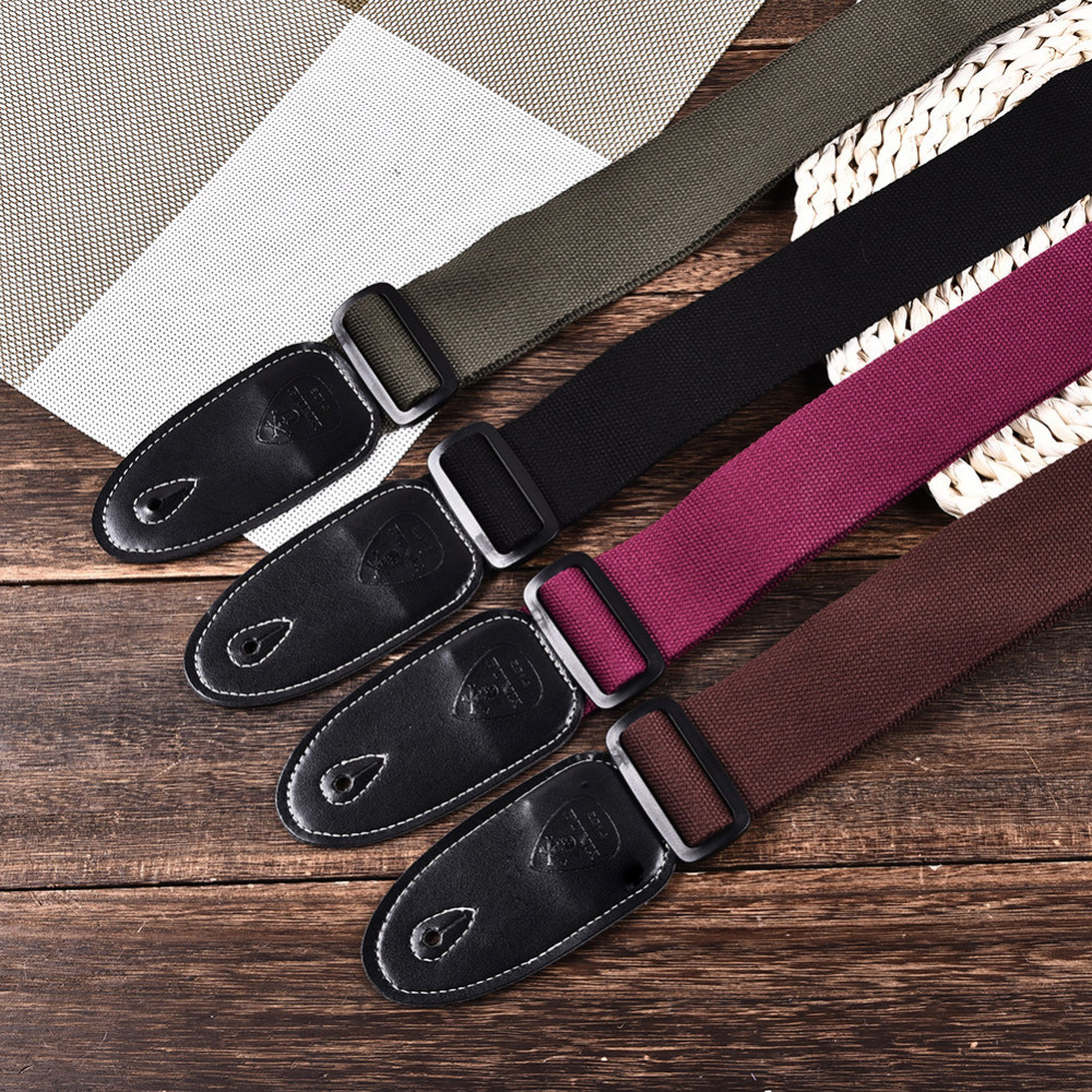 Polyester Cotton Guitar Strap Ukulele Strap For Folk Guitar & Acoustic Guitar New Polyester Cotton Strap With PU Leather Ends guitar straps cotton belt for small guitar ukulele vertical stripes classic style 11 colors thicken 2016 new arrival best price