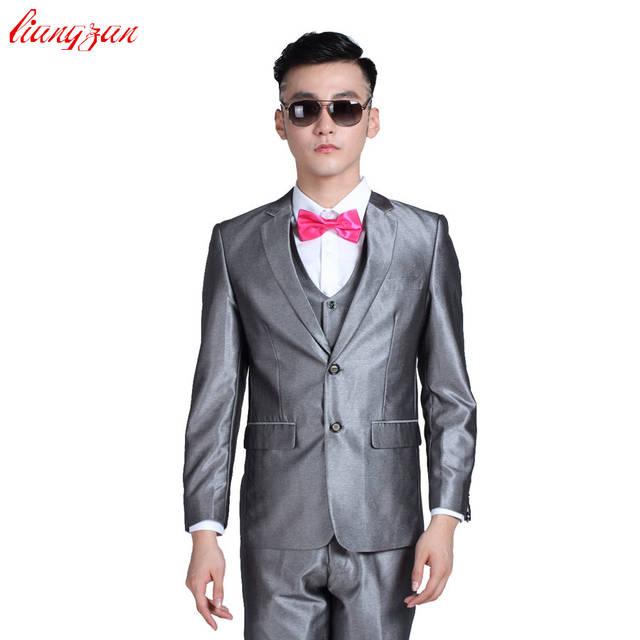placeholder (Chaqueta + pantalón + corbata) Conjunto de traje de Buisness  para hombre entallado ajuste a5c9ed1f417