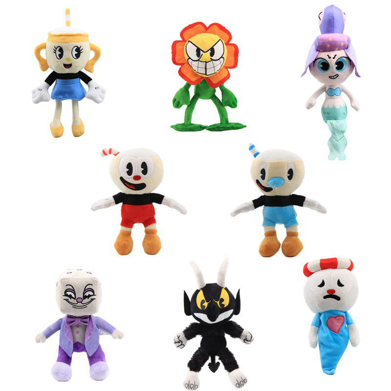 13Styles Game Cuphead Plush Toy Mugman Ms. Chalice Ghost King Dice Cagney Carnantion Puphead Plush Dolls Toys For Children Gifts