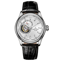 Reef Tiger Settle Serier RGA1639 Men Business Fashion Hallow Out Dia Watches Automatic Mechanical Wrist Watch With Leather Strap