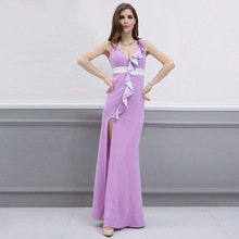MUXU summe woman clothes dress women vestidos robe femme ete 2018 verano patchwork sexy ruffle party long dresses jurk