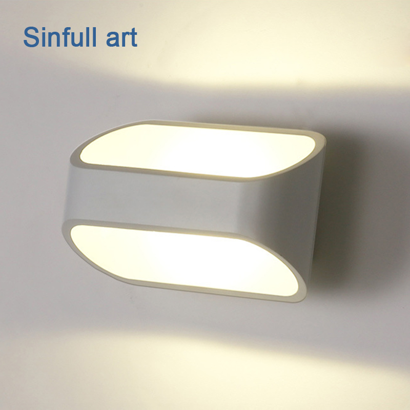 Modern 3W LED wall lamp Square Up Down Wall light indoor bedside