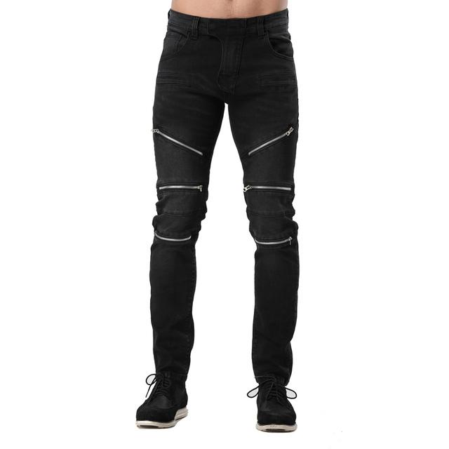 2017 Men Jeans Fashion Racer Hiphop Slim Motorcycle Jeans For Men Cotton Good Quality Runway Biker Jeans Y2061