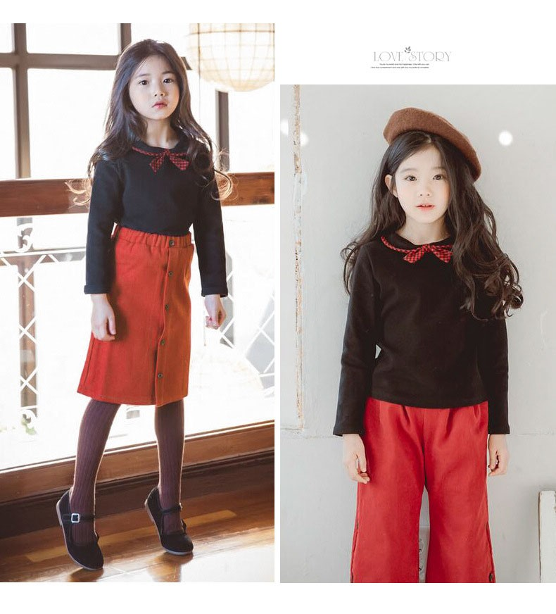 casual solid button kids skirts for girls cotton skirt clothes little big girls long skirts children clothing 2017 spring summer kids skirts clothes (15)