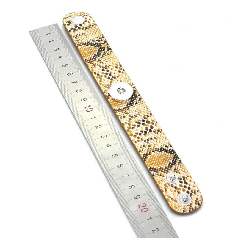 6 kolorów Snap skórzana bransoletka Retro ręcznie plecione skórzane bransoletki zatrzaskowe bransoletki fit 18MM Snap biżuteria 7671