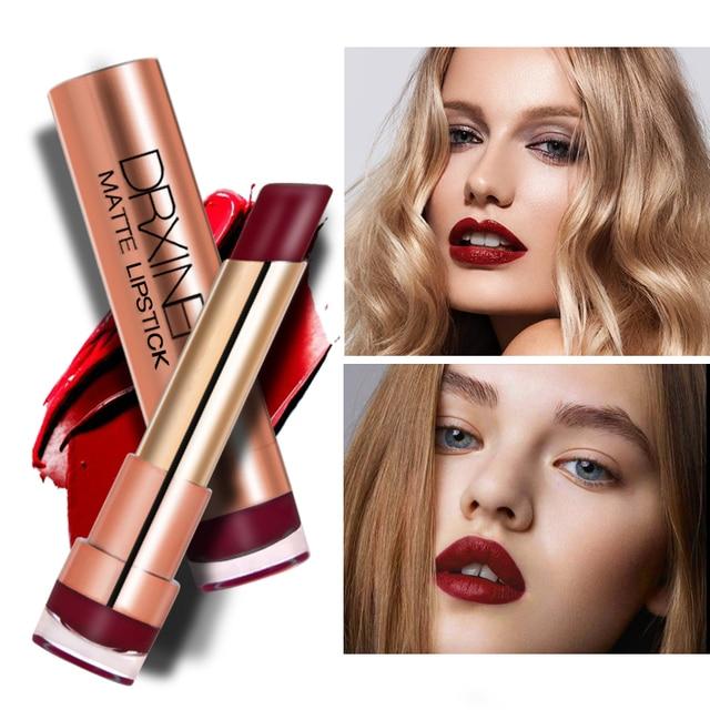 Drxiner mat rouge à lèvres lèvres maquillage cosmétiques rouge à lèvres ensemble coréenne style 16 couleurs nude velours rouge à lèvres Beauté Maquillage 4