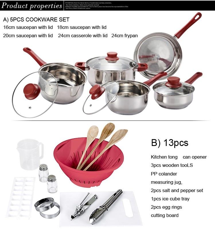 2020 Panelas De Ceramica Arrival Fda Top Fashion Cookware set Cooking Pans And Pots Set 80 Piece Kitchen Starter Combo Utensil