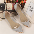 Women's Fashion Flats Pointed Breathable Shop Cheap Comfort Shoes Gold Silver