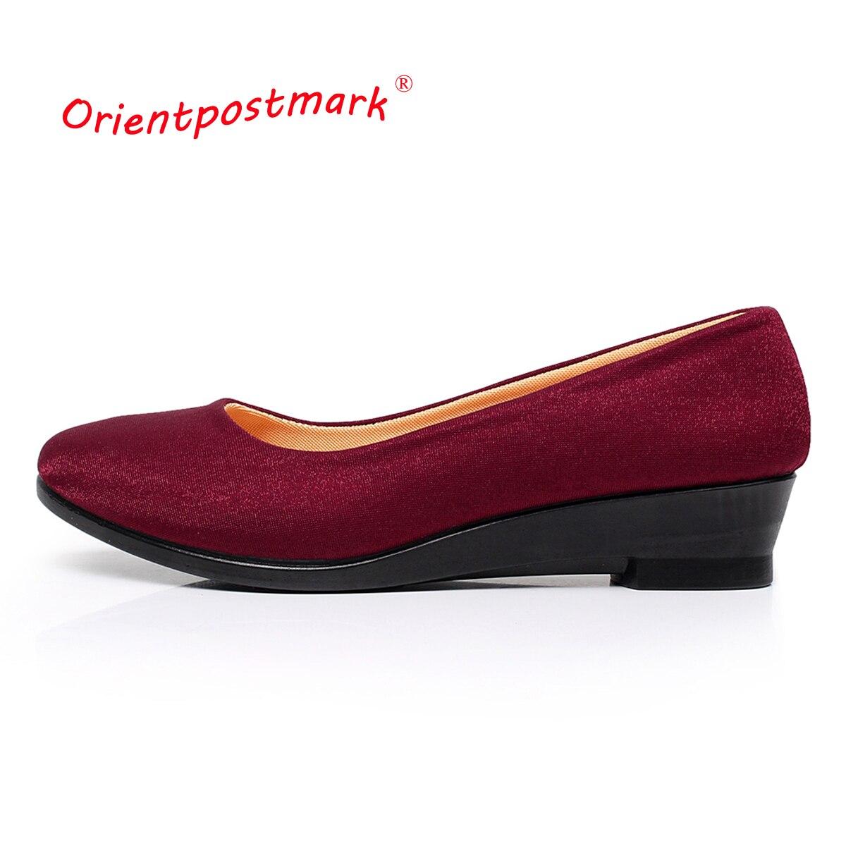 Frauen Zwängt Schuhe Frauen Schuhe für Arbeits Tuch Keile Süße Loafers Beleg Auf frauen Schwangere Keile Schuhe Oversize Boot schuhe