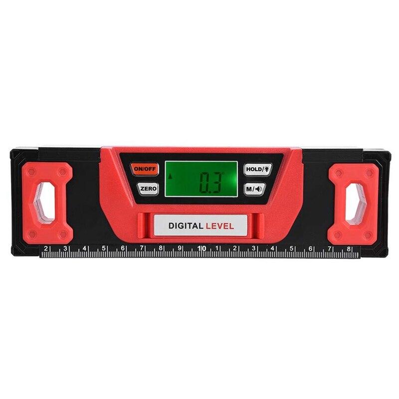 Inclinomètre numérique d'angle magnétique en alliage d'aluminium niveau 4x90 degrés inclinomètre 200 Mm, niveau numérique précis
