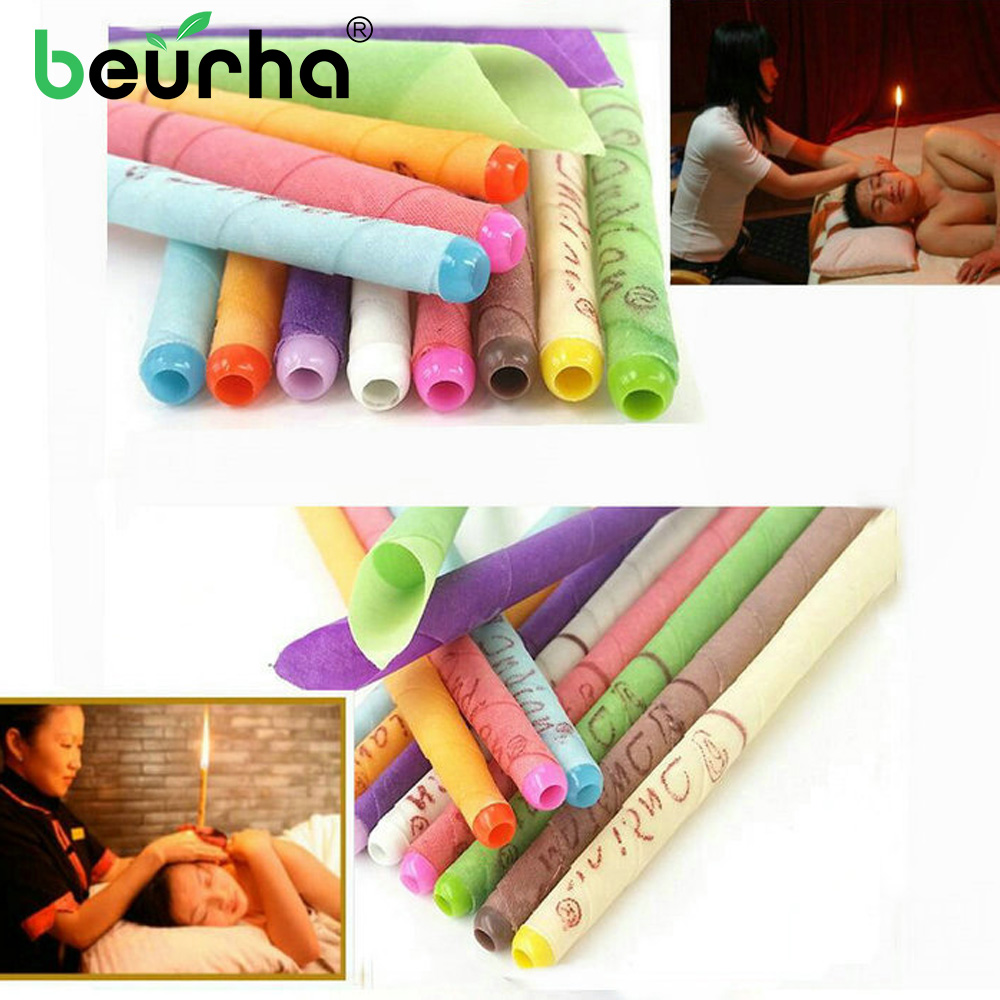 Massage Ear-Candles Accupuncture-Treatment 10pcs/Lot Wax-Removal Health-Care Body-Ear