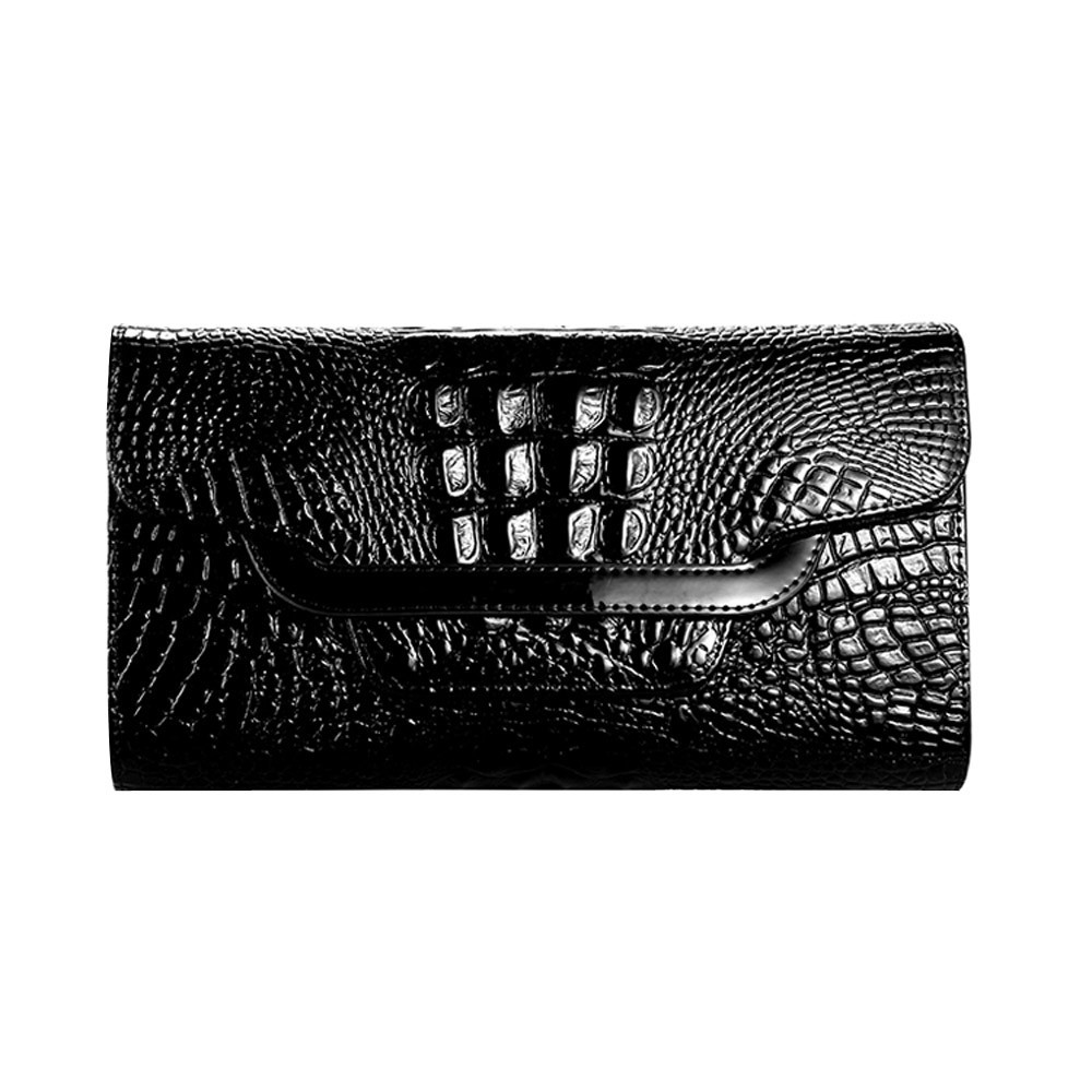 Women Handbag Money Coin Purses Holder Alligator Crocodile Long Clutch wallet leather wallet women leather