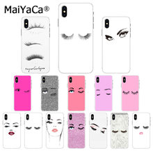 Maiyaca eyelash Makeup Lip DIY Luxury High-end Protector สำหรับ iphone 11 pro X XS สูงสุด 66S 7 7plus 8 8Plus 5S SE XR(China)