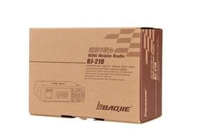 Image 5 - Baojie BJ 218 Mini Auto Walkie Talkie 10 km 25 w Dual Band VHF/UHF 136 174 mhz 400  470 mhz 128CH Ham Mobiele Radio Station + USB Kabel